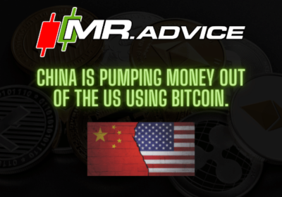 China is pumping money out of the US using Bitcoin.