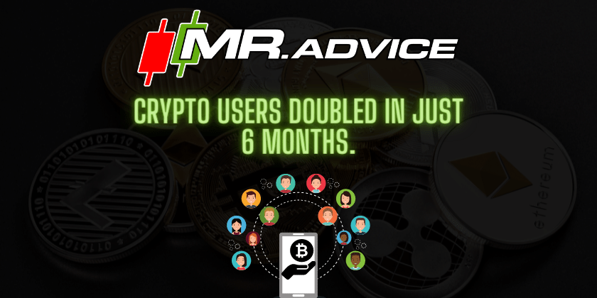 Crypto users doubled in just 6 months.