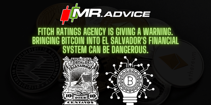 Fitch Ratings agency is giving a warning. Bringing BitCoin into El Salvador's financial system can be dangerous.
