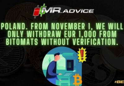 Poland. From November 1, we will only withdraw EUR 1,000 from bitomats without verification.